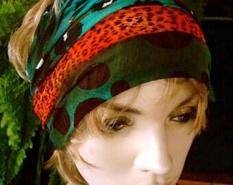womens Headband extra Wide Headband Comfortable Yoga turband Alopecia fine soft mesh