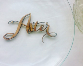 Custom personalised Wedding Table names/place names