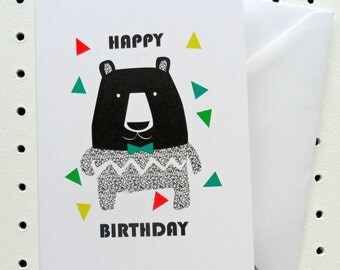 Big Bear Happy Birthday Card