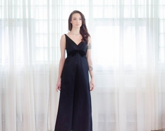 60s Evening Dress - Vintage 1960s Floor Length Gown - If You Dare Dress
