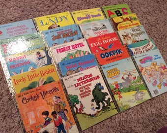 Vintage Little Golden Books Lot of 20