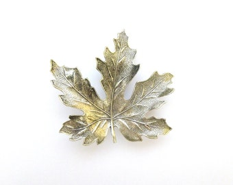 Silver Maple Leaf Barrette Bridal Hair Clip Bridesmaid Nature Inspired Autumn Fall Rustic Woodland Wedding Accessories Womens Gift For Her