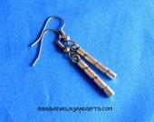 Silver Dangle Drop Earrings - Surgical Steel French Hooks