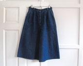 Vintage denim culottes S M