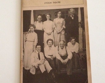 Playbill 1981 Lyceum Theatre Mornings at Seven Vintage Theater Program NYC