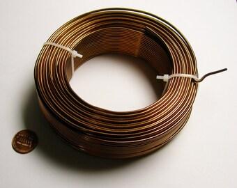Aluminum wire 12 gauge-  2mm - 164 foot  roll - good quality -  bronze - 50 meters - ALR1