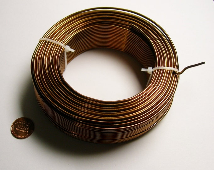 Aluminum wire 12 gauge-  2mm - 164 foot  roll - good quality -  bronze - 50 meters - ALR1