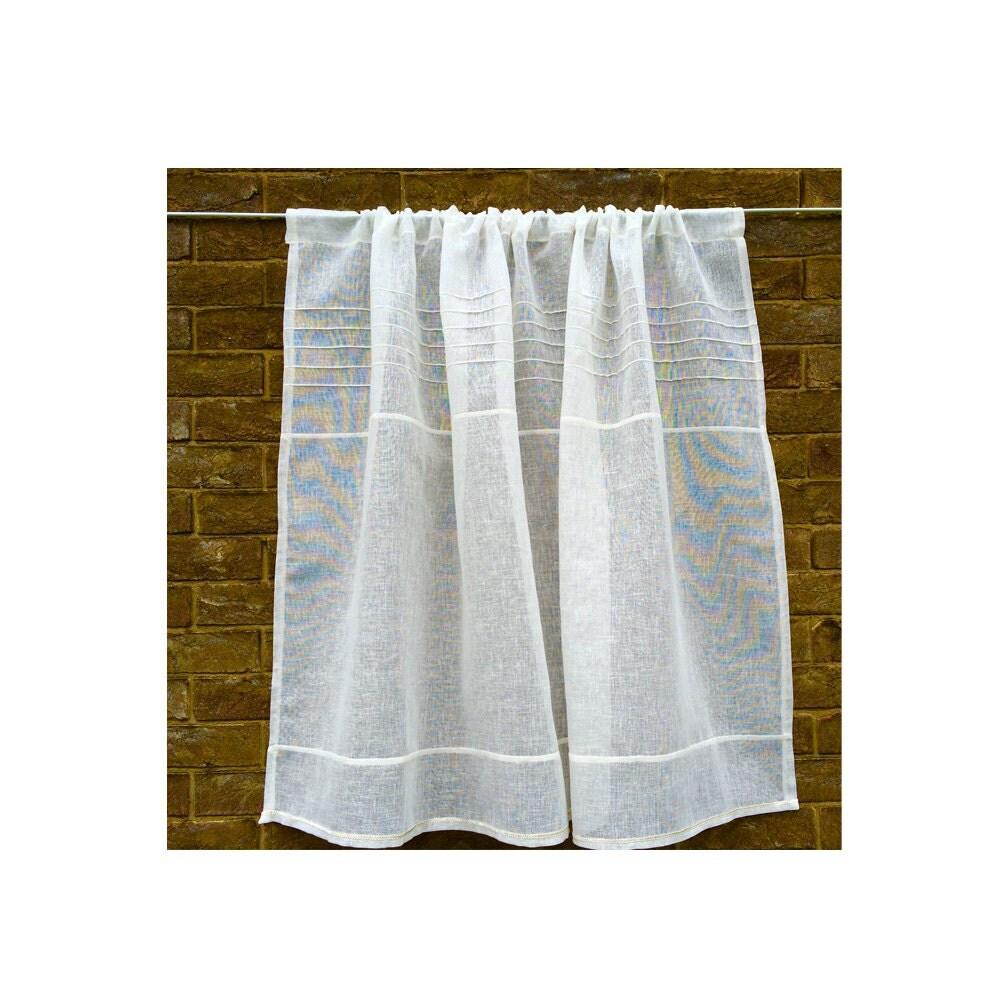 Ivory Sheer Window Curtain Linen Gauze Off White Bathroom