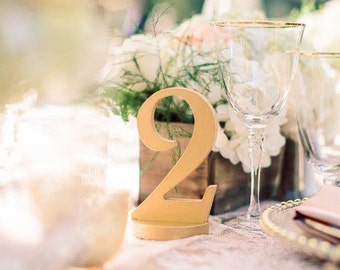 Gold Wedding Table Numbers for Weddings & Events Wedding Decor Gold Table Numbers, Wedding Signs, Custom Set of 20 (Item - NUM120)
