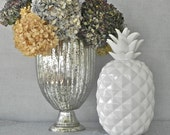 Pineapple Home Decor Ceramic Pineapple Pineapple Figurine Large White Pineapple Statue Southern Hospitality Pineapple Gift Home Decor