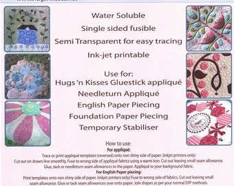Applique Paper By Hugs' N Kisses (20 Sheets)