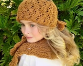 CROCHET PATTERN - Crochet Head and Neck Warmer Set - The Hudson Head and Neck Warmer Set - Sizes Child and Adult