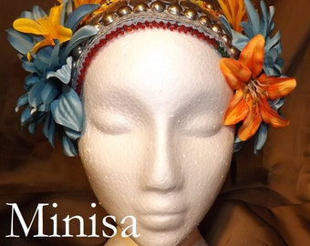 Tribal Fusion ATS Belly Dance Headpiece, Minisa