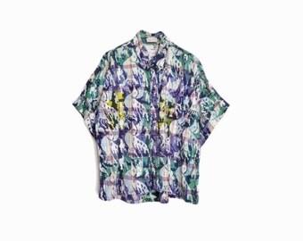 Vintage Batik Peace Dove Shirt - large/xl