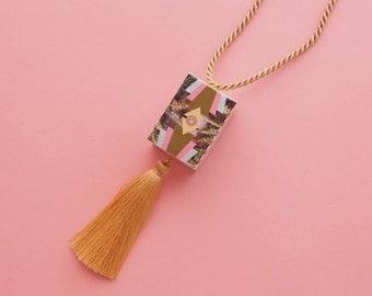 "Art Deco Necklace // Geometric Necklace // Tassel necklace // Statement Necklace // Tropical Necklace // The ""South Beach 2"""