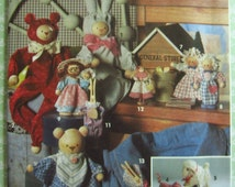 Spool and Clothespin Dolls Pattern Vintage 1990's Simplicity Crafts Pattern 8098 UNCUT
