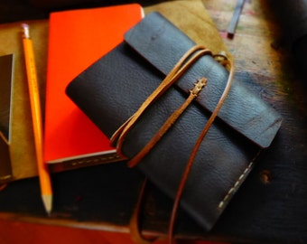 Leather Note Pad, Note Pad, Pocket Journal, Writer, Artist, Scribbles, Traveller, Hand-Made Journal