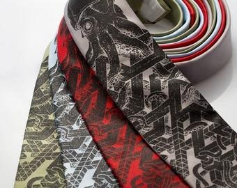 Squid Tie - Impossible Squid Necktie - Men's Necktie
