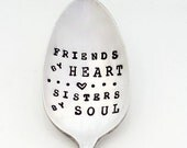 The SOUL SISTER Spoon.   The Original Hand Stamped Vintage Coffee Spoons ™ by Sycamore Hill. Gift for Girlfriends. Bestie Stamped Spoon.