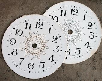 Vintage Alarm Clock Faces -- cardboard -- D17