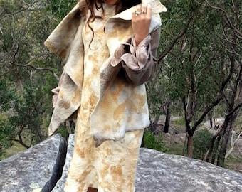 Funky eco pixie nuno felt jacket