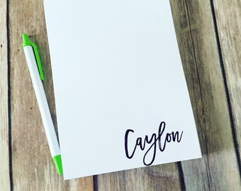 Personalized Notepad - Script Name Stationery, Choose your name Color, Handwritten Name, Cursive Notepad, Wedding & Bridal Gift