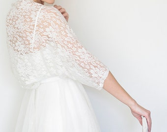 Plus size bridal cover up, wedding lace bolero, plus size bridal shrug, evening shawls wraps