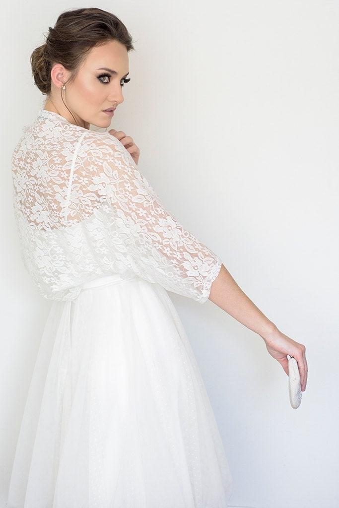 Plus Size Bridal Cover Up Wedding Lace Bolero