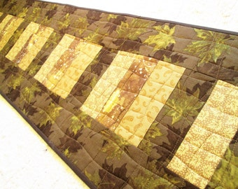 Quilted Autumn Leaves Table Runner