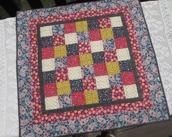 Patriotic Americana Quilted Table Topper