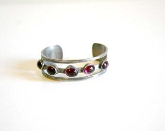 Purple Gem Cuff Bracelet