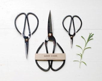 SET OF 3 Garden Scissors - Small + Medium + Large