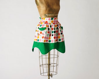 Apples Half Apron Retro Betsy Apron MOTHER'S DAY SALE 30% Off