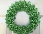 Green Blend French Beaded Decorative Wreath (X-Small)