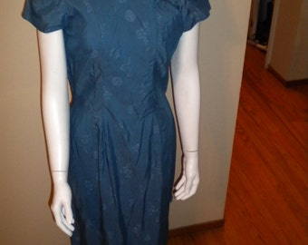 Vintage 1950s Liberty House Hawaii Mandarin Asian style dress Tiki Oasis Size small