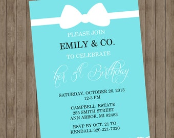 Blue name and co Invitations