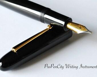 Raven Custom Fountain Pen with Jowo Nib