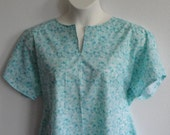 S - 2X -  Post Surgery Gown / Shoulder Surgery / Mastectomy - Breast Cancer / Hospice / Hospital / Breastfeeding  - Style Erin