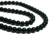 8mm Black Obsidian beads,  round natural gemstone bead, full & half strands available (304S)