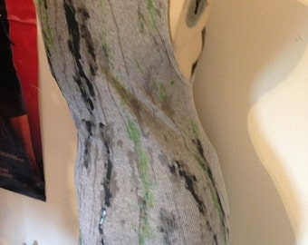 Slimepunk Zombie Gray Tank Dress Fits MED to LRG