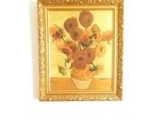 Framed SUNFLOWERS Vincent Van Gogh / Vintage