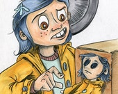 Coraline Pencil and Marker sketch
