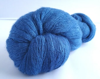 Delft hand dyed extra fine merino and silk laceweight yarn