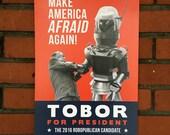 Digital Print, Robot Art, 2016 Election, Killer Robot, Tobor, Donald Trump, Elections, Digital Print Art, Alternate Histories, Geekery