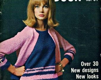 Vintage Vogue Knitting Book No 64, 1964