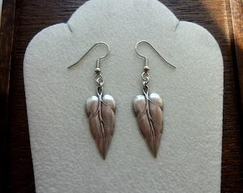FOLIOLE-Silver Ox Leaf Earrings