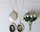 Remembrance locket, silver locket, memorial locket, personalised locket