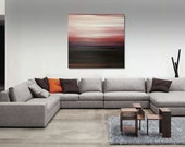 "Large 36"" x 36"" Original Abstract Painting - Contemporary Wall Art Decor Painting - ombre stripes - neutral -sunset painting"