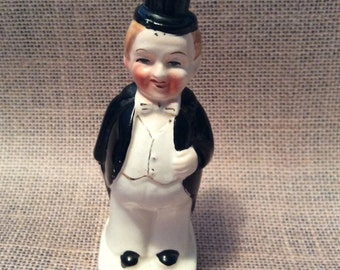 Vintage Look Like W.C. Fields Before and After Figurine Salt Pepper Shaker Made in Japan 1950s