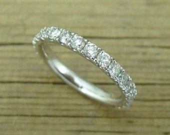 Eternity Band, 1 ct Diamond Eternity Ring ,Stackable Diamond Eternity Band, Eternity Wedding Band, Gold Eternity Band With Diamonds